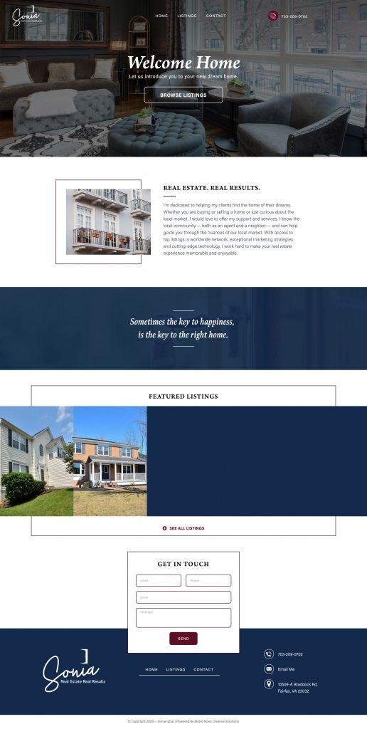 realtor website design sonia